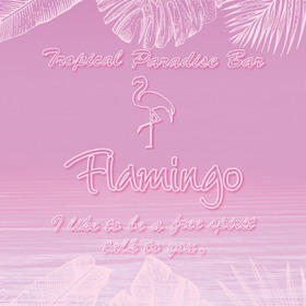Tropical Paradise Bar Flamingo